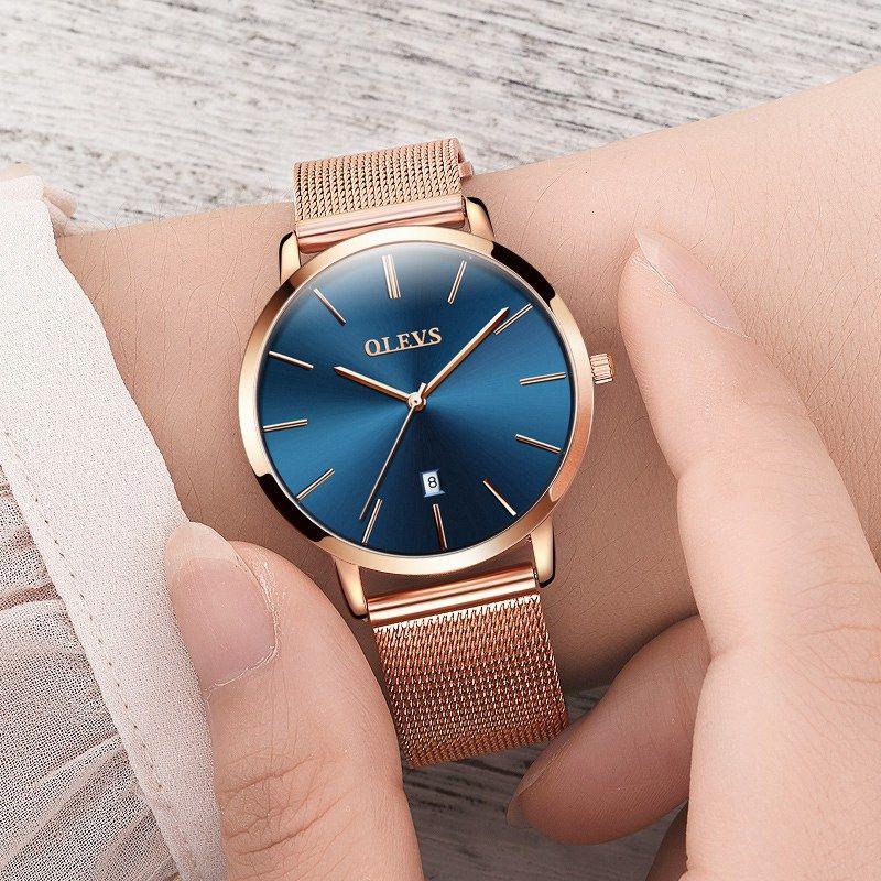 cf71abdec78 Genuine watch OLEVS Brand Luxury Women s Watches Waterproof Business Rose  Gold Stainless Steel Ladies Quartz Calendar   Price   45.00   FREE Shipping       ...