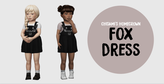 1000 FOLLOWERS GIFT FOR EVERYONE!!!! 3 NEW MESHES AND A POSE PACK! WOOOOO!  → chisami's fox dress 3 swatches → pixicat hightop converse 2 swatches → chisami's nobu sock boots 2 swatches → toddler pose pack 1 6 poses