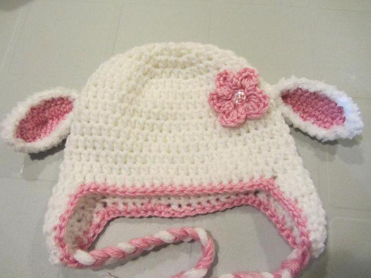 Free pattern - Little lamb Crochet Baby Hat. | Hats | Pinterest ...