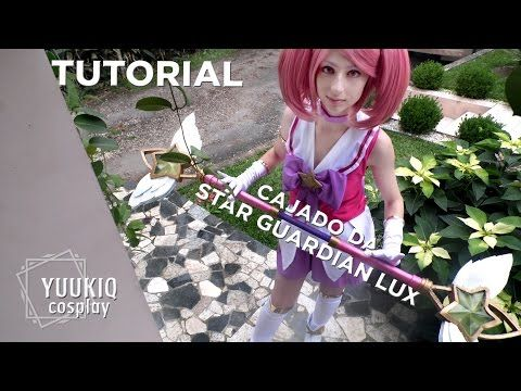 Tutorial: arma do cosplay da Star Guardian Lux (League of Legends) - YouTube