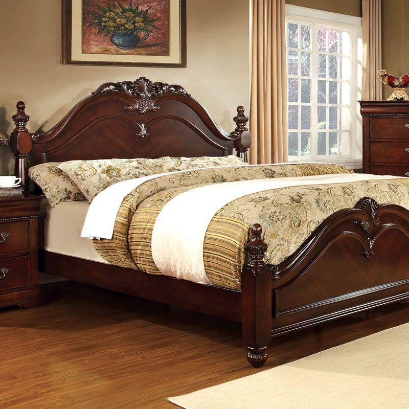 Mandura Traditional English Style Cherry Bed | Camas, Tallado en ...