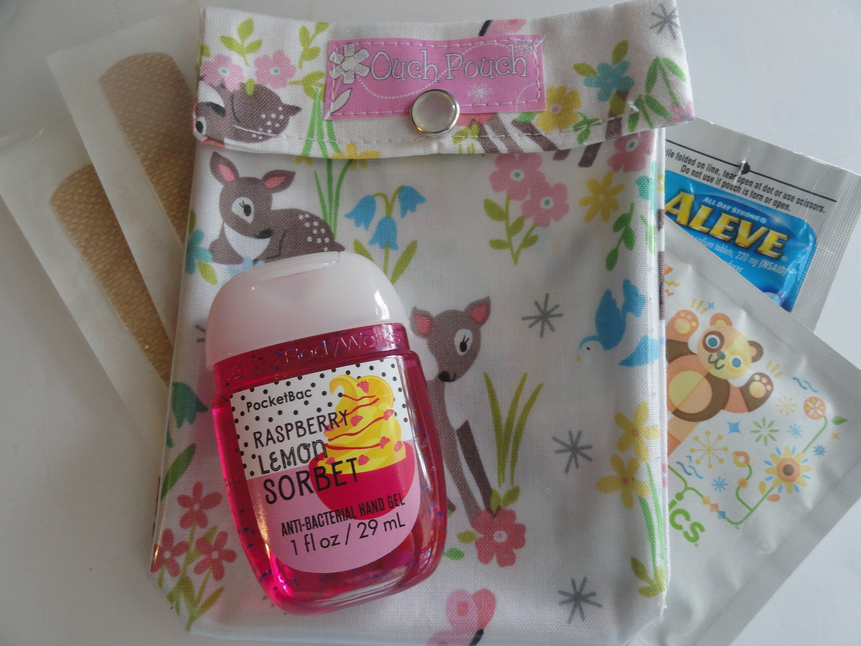 Woodland Deer Clear Front Ouch Pouch First Aid Organizer Diaper