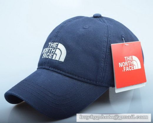 The North Face Baseball Cap Curved visor Hat Summer Men Women Hat Sport  Outdoor Cap Navy 44ae6335532