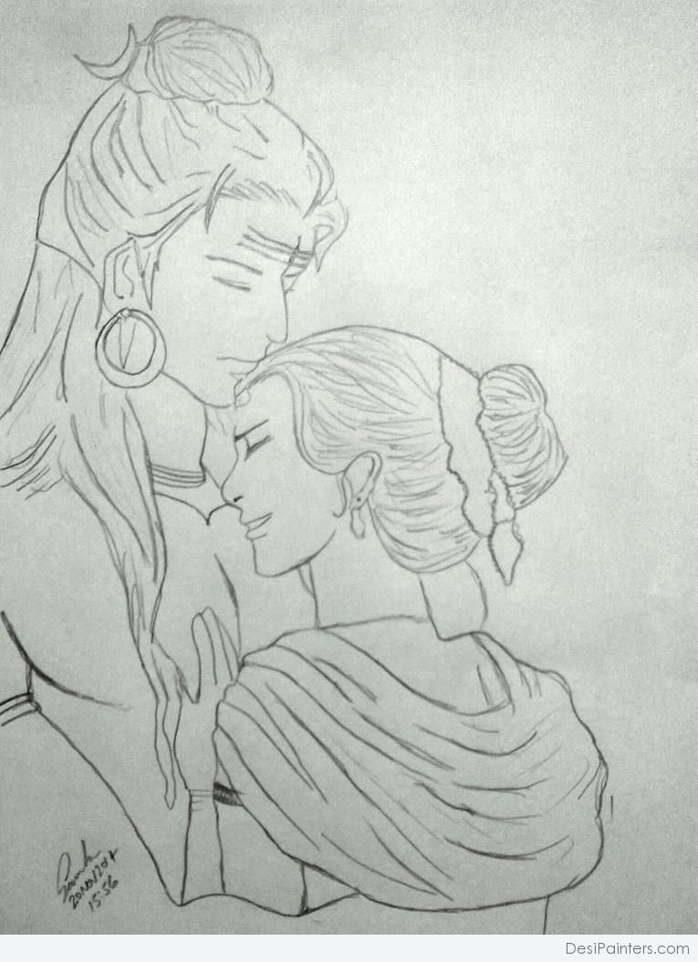How make pencil drawing of the lord of shiva and parvati gallery shiv and parvati
