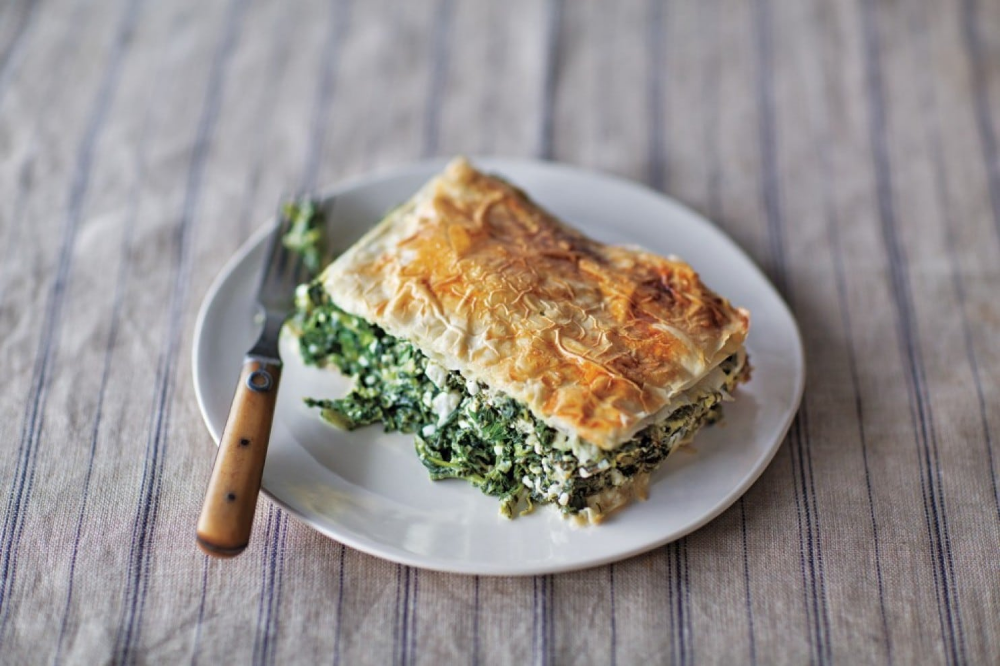 Greek Mixed Greens Pie With Phyllo Crust Recipe (With