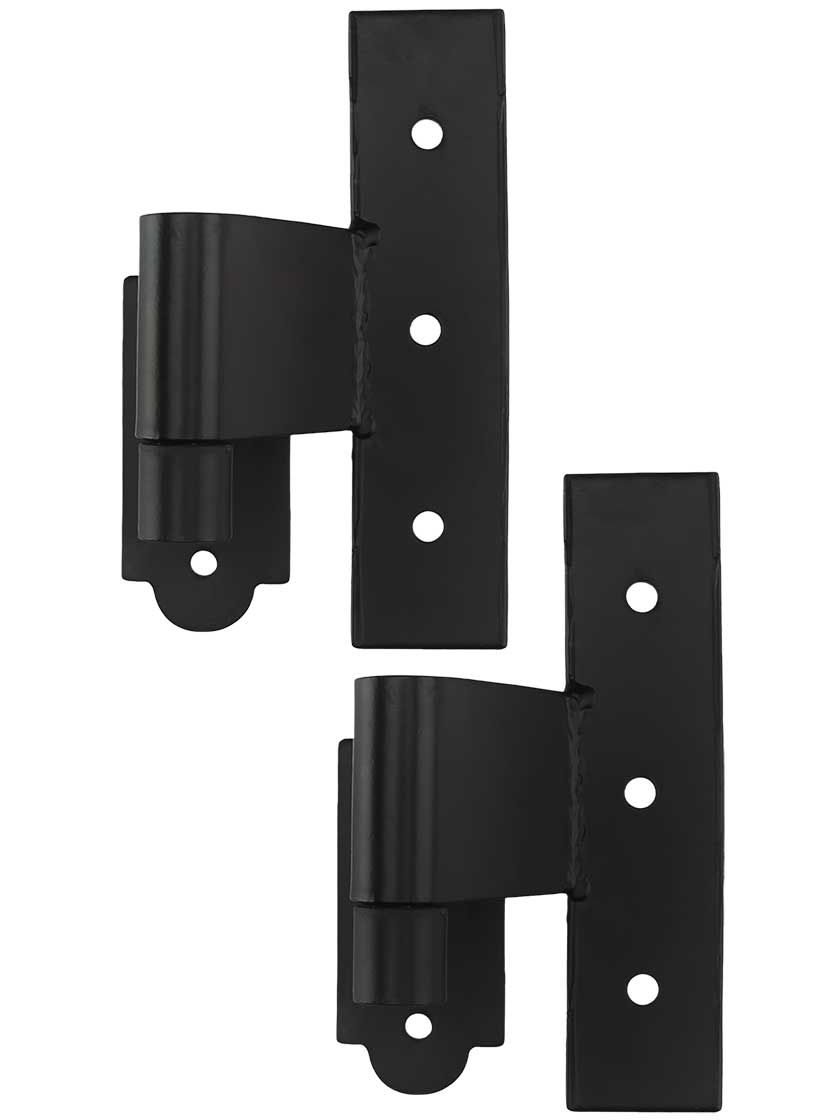 Pair Of Suffolk Style Stainless Steel Middle Hinges With Plate Pintles 1 3 4 Offset Stainless Steel Steel Hinges