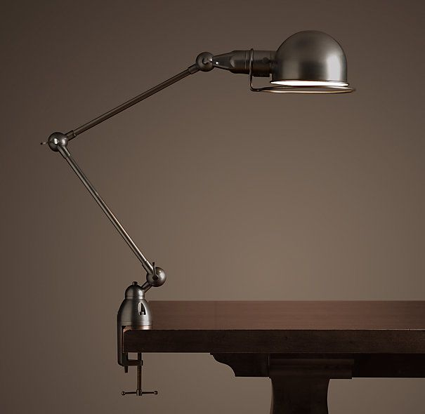 Atelier Task Table Clamp Lamp Bronze Table Restoration