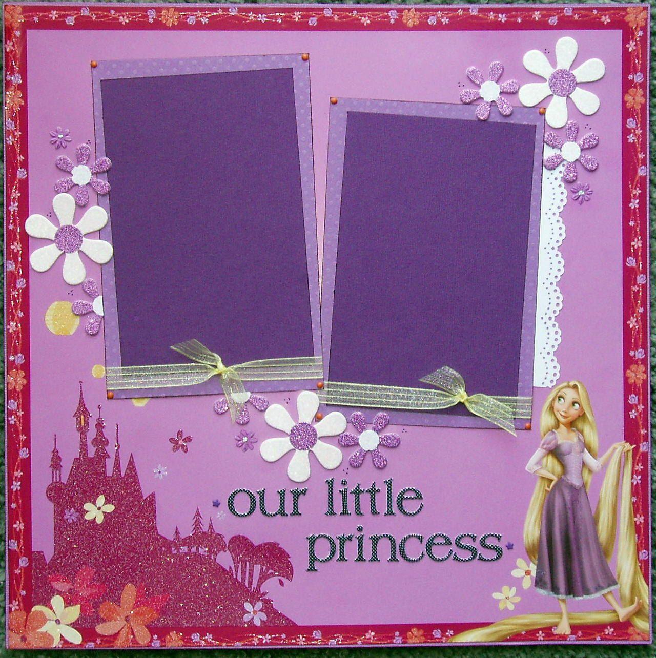 Disney scrapbook ideas - 12x12 Premade Scrapbook Layout Featuring Disney S Rapunzel