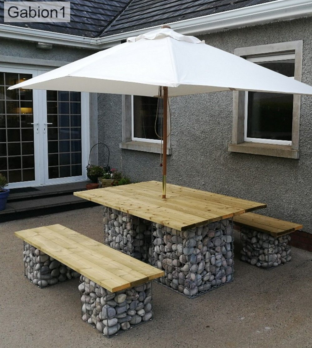 Best Gabion1 Table Setting Pool Houses Outdoor Baths 400 x 300