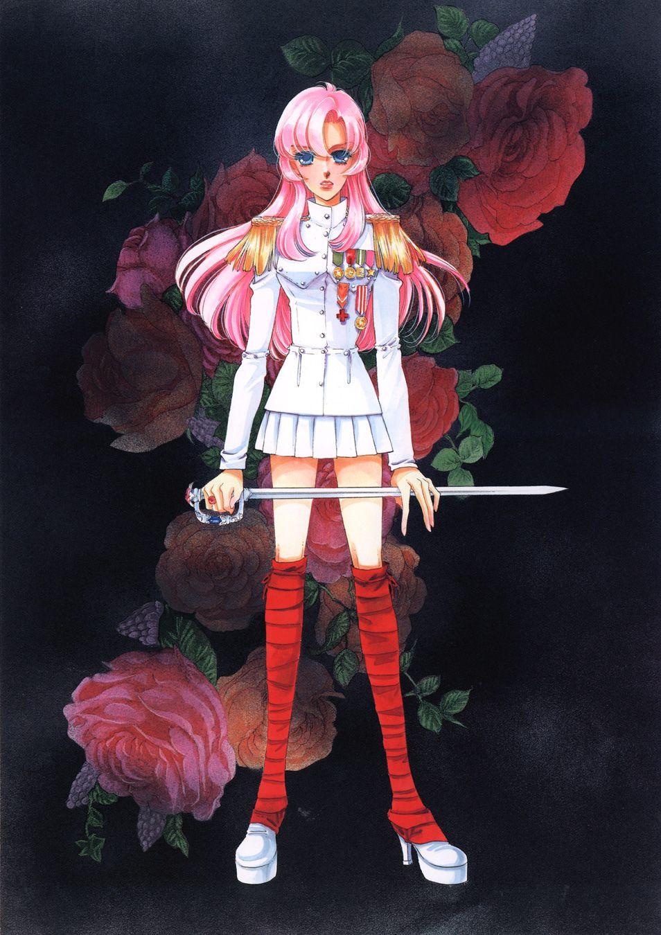 Duelist Love The Red And White Contrast Utena Revolutionary Girl Utena Manga Illustration
