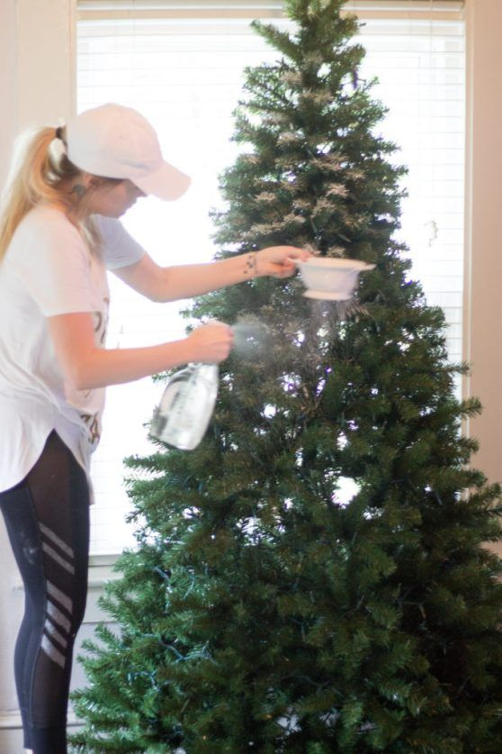 How to Flock Your Christmas Tree | Kristyn Cole