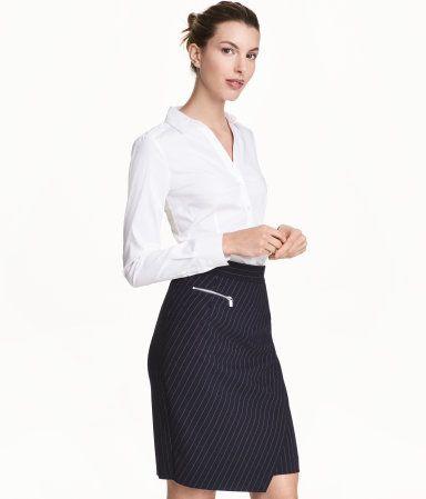 Skjorte med stretch | Hvid | Dame | H&M DK
