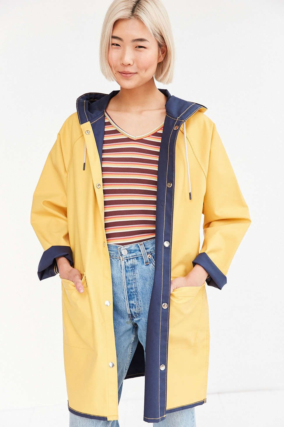 BDG Reversible Fisherman Raincoat | Raincoat, Urban outfitters and ...