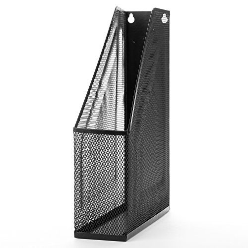 Wire Mesh Wall Mounted Or Freestanding Document Rack Magazine And File Holder Black File Holder Wire Mesh Wall Mount