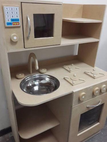 De Mueble Cocina Madera Juguete Casitas Cocinita Infantil ...