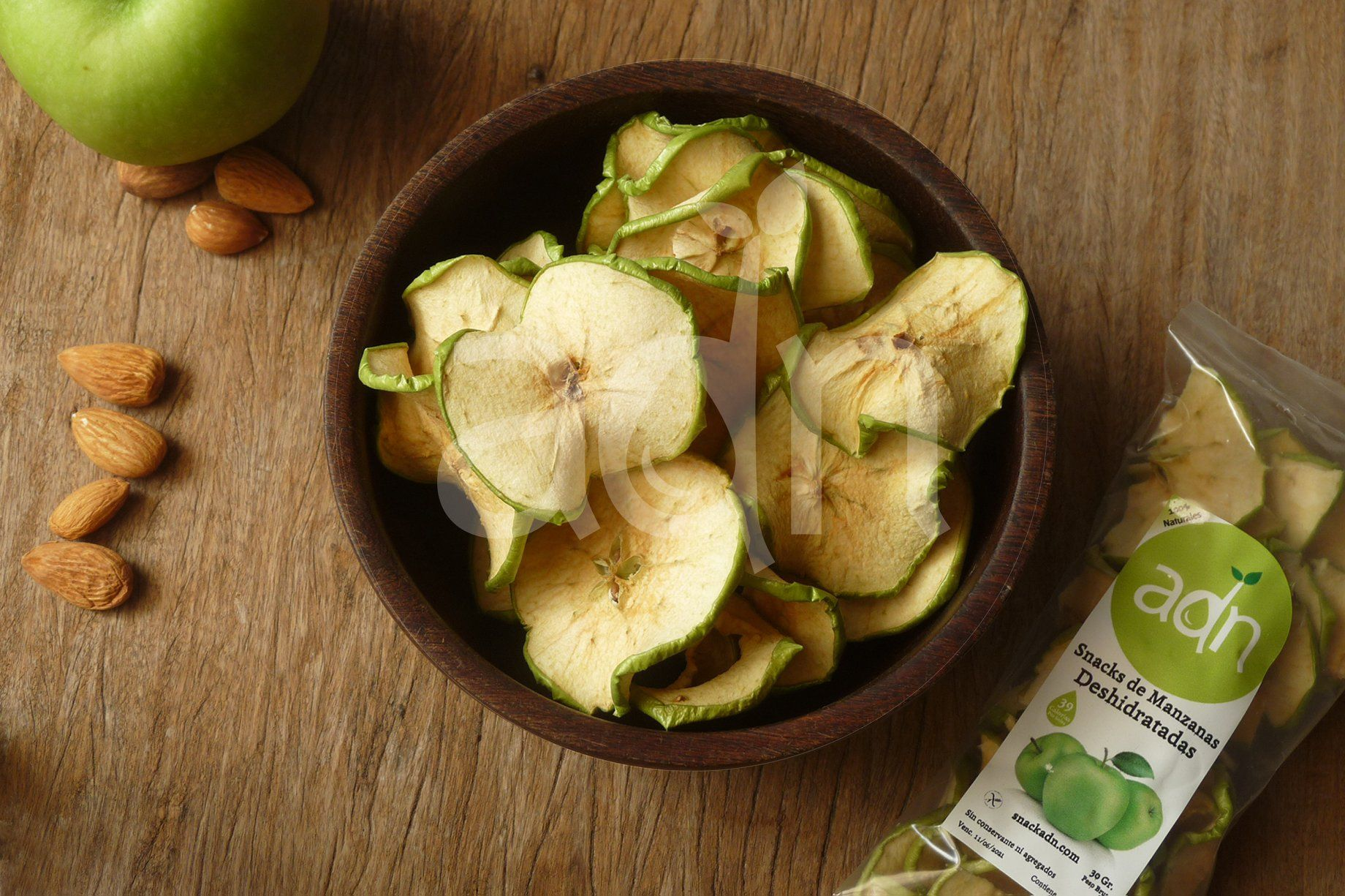Snack Manzanas Verdes Alimentos Snacks Saludables Alimentacion