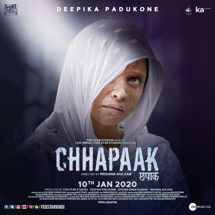 Chhapaak Hindi Movie 2020 Deepika Padukone Hindi Movies Meghna Gulzar