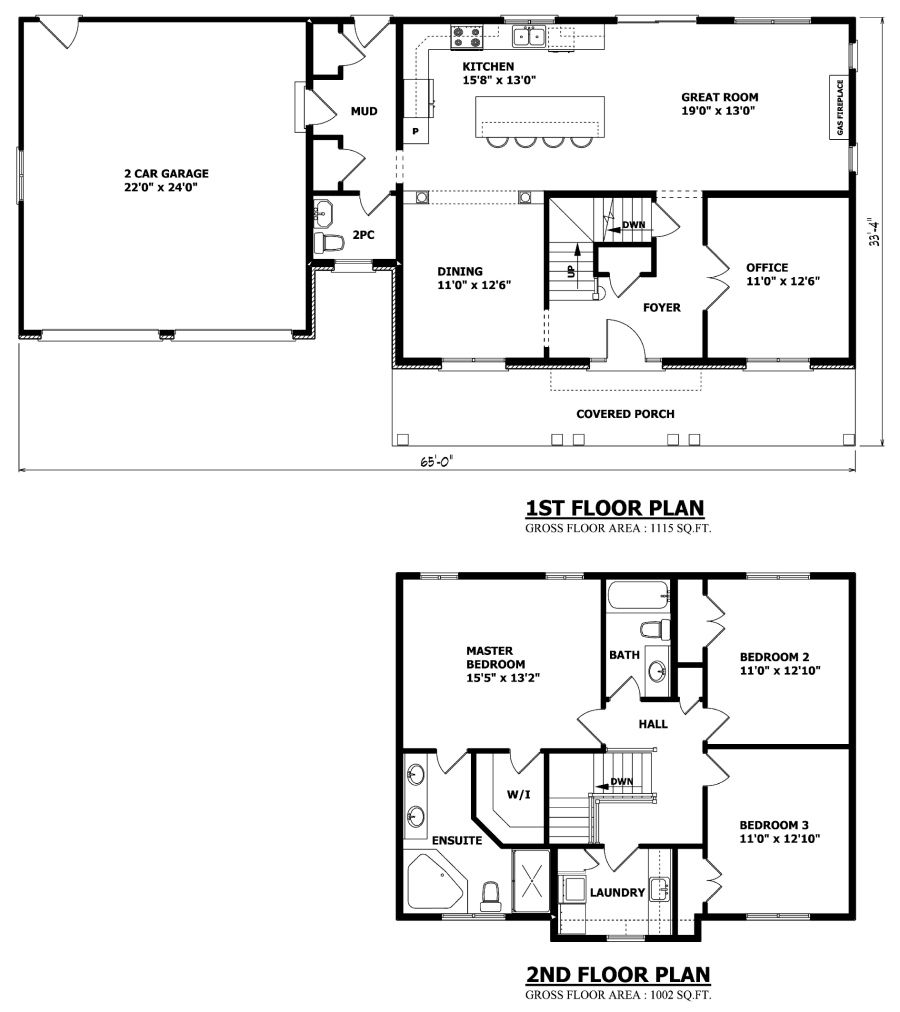 Simple Floor Plan But Very Functional Might Want It A Bit Bigger And I Would Want A Bonus Room Over Simple Floor Plans House Layout Plans Floor Plan Layout