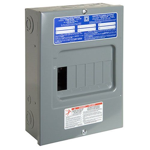 Square D By Schneider Electric Hom612l100scp Homeline 100 Amp 6space 12circuit Indoor Surface Mount Main Lug Electrical Breaker Box Electrical Breakers Circuit
