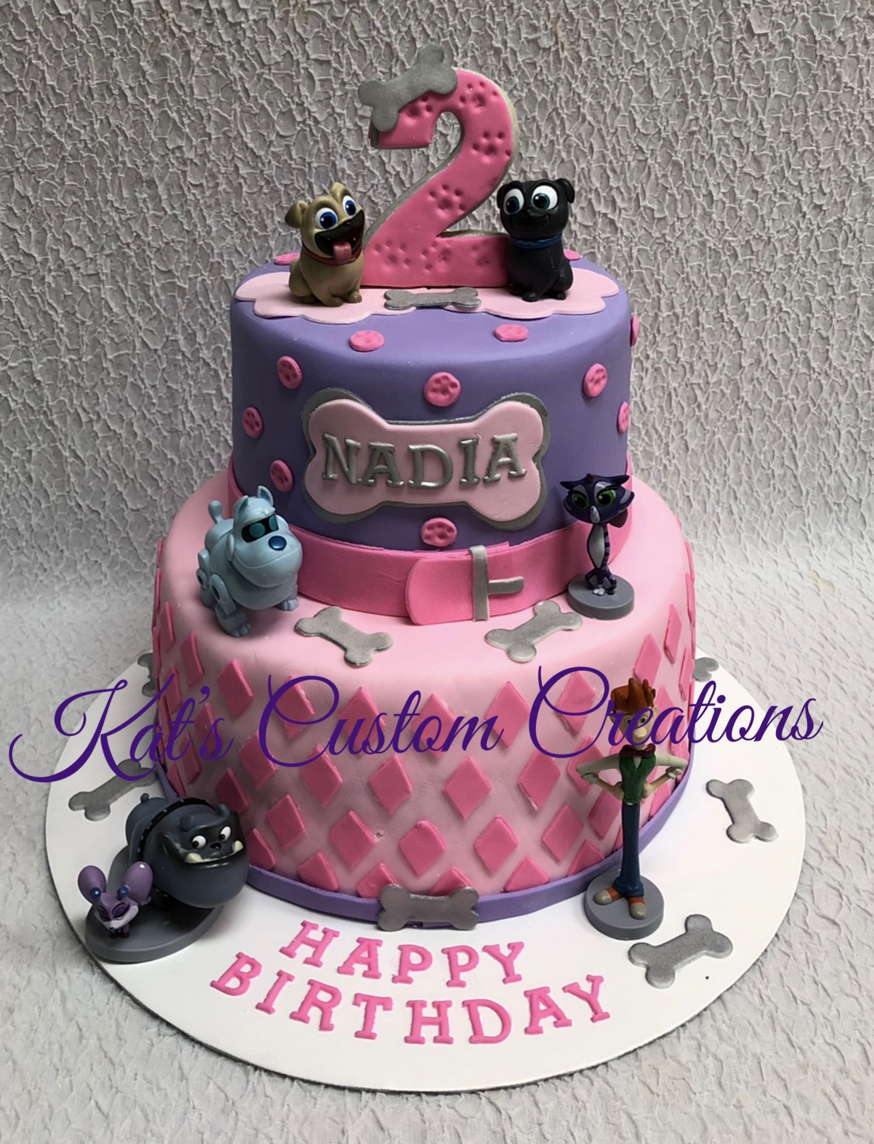 Girly Puppy Dog Pals Cake Dog Birthday Party Puppy Birthday Parties Puppy Birthday