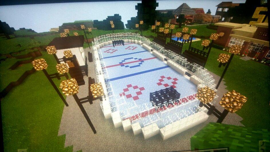 Minecraft Hockey Rink Minecraft Garden Minecraft Designs Minecraft