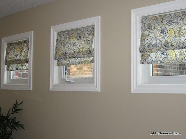 Please Wait Small Window Treatments Basement Windows Faux Roman Shades