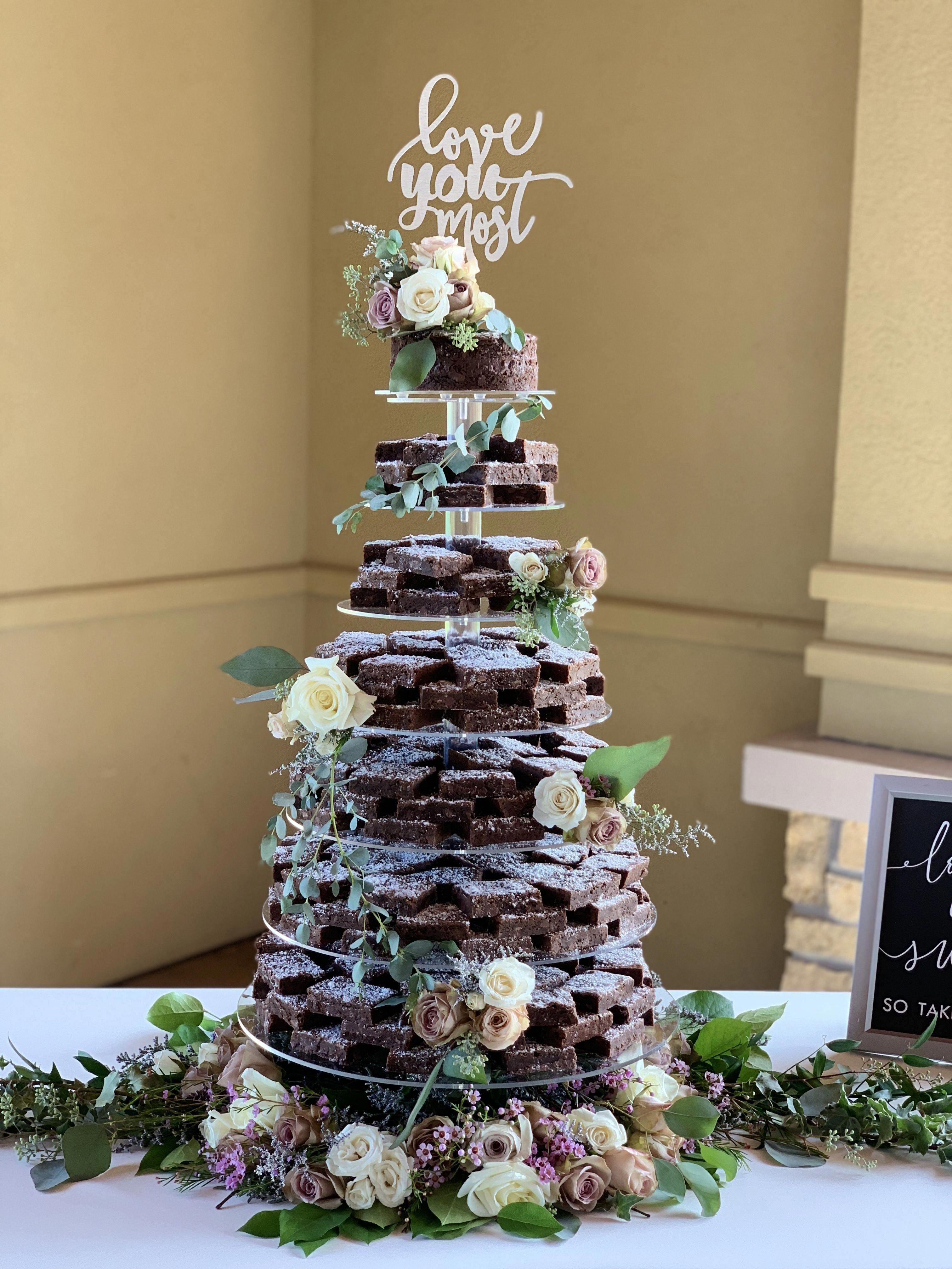 41++ Brownie birthday cake tower trends