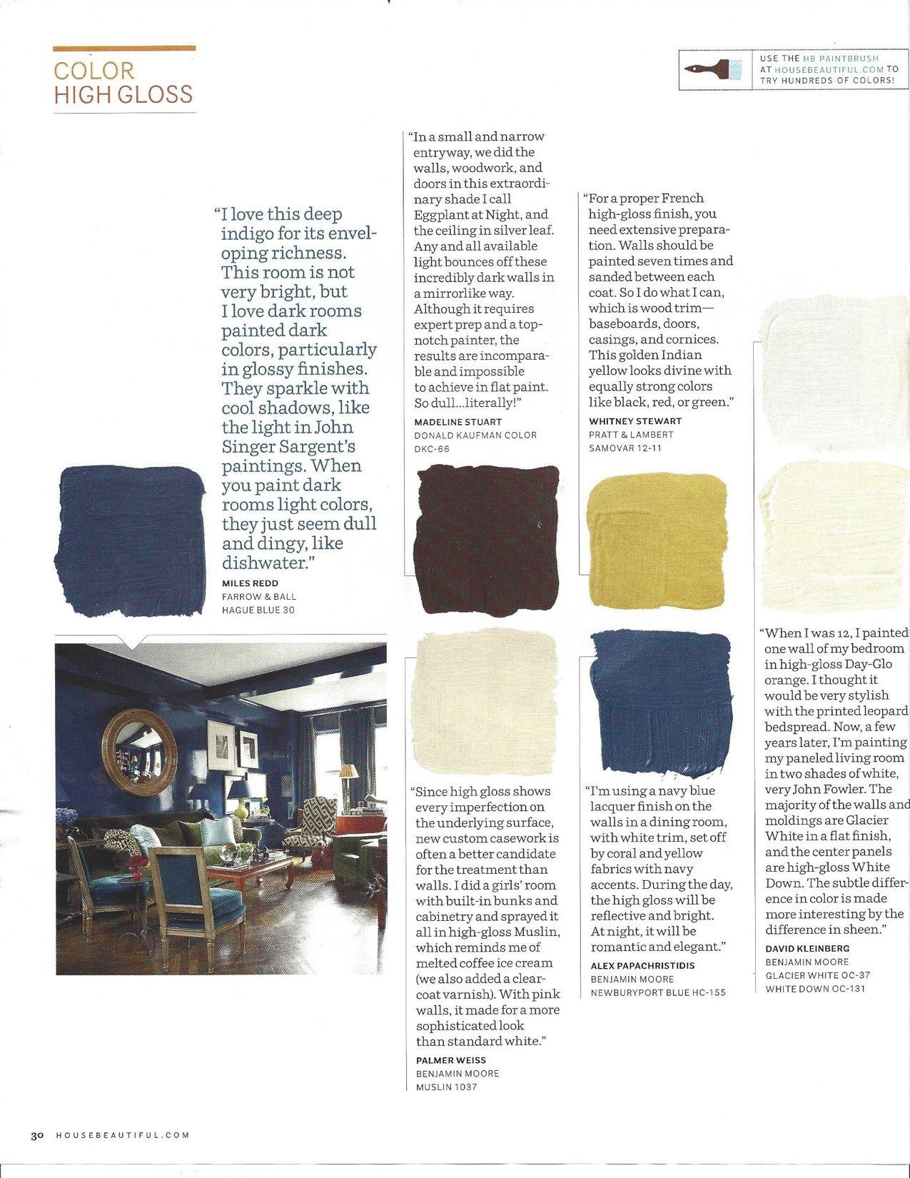 High Gloss High Gloss Room Paint Color