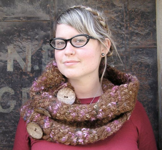 Knitting PDF cowl pattern  Colossal Cowl by SpincycleYarns on Etsy, $7.00