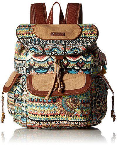 Circle Artist Flap Women's World Sakroots BackpackNatural One uTJ15KclF3