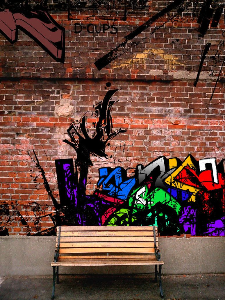 Doing The Graffiti Pattern On A Brick Wall Will Ensure That It Is Never Damaged