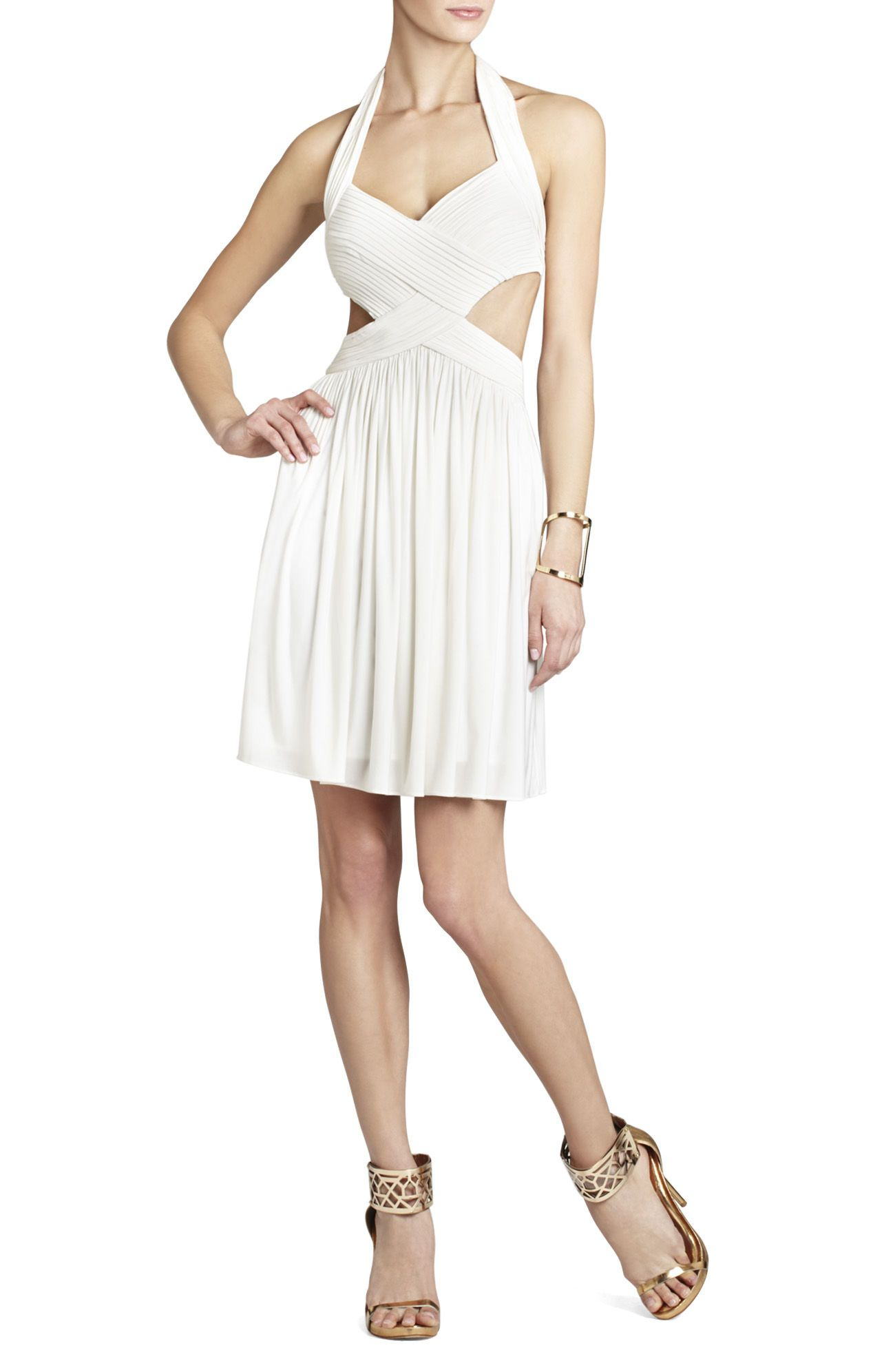 White Shea Halter Cutout Cocktail Dress   BCBG   Why I\'ll Learn To ...