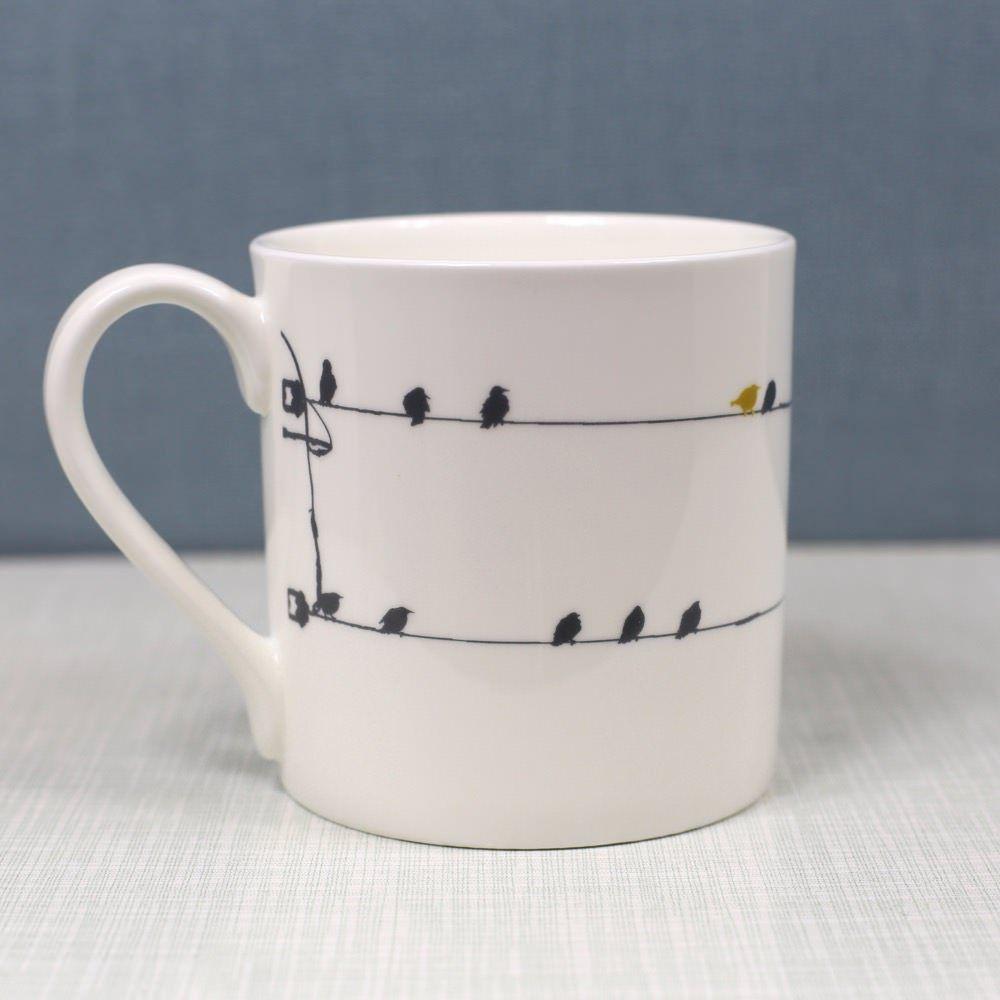 4ec23062d69 Blue Birdsong Bone China Mug | Oh You Pretty Things | Mugs, China mugs, Bone  China