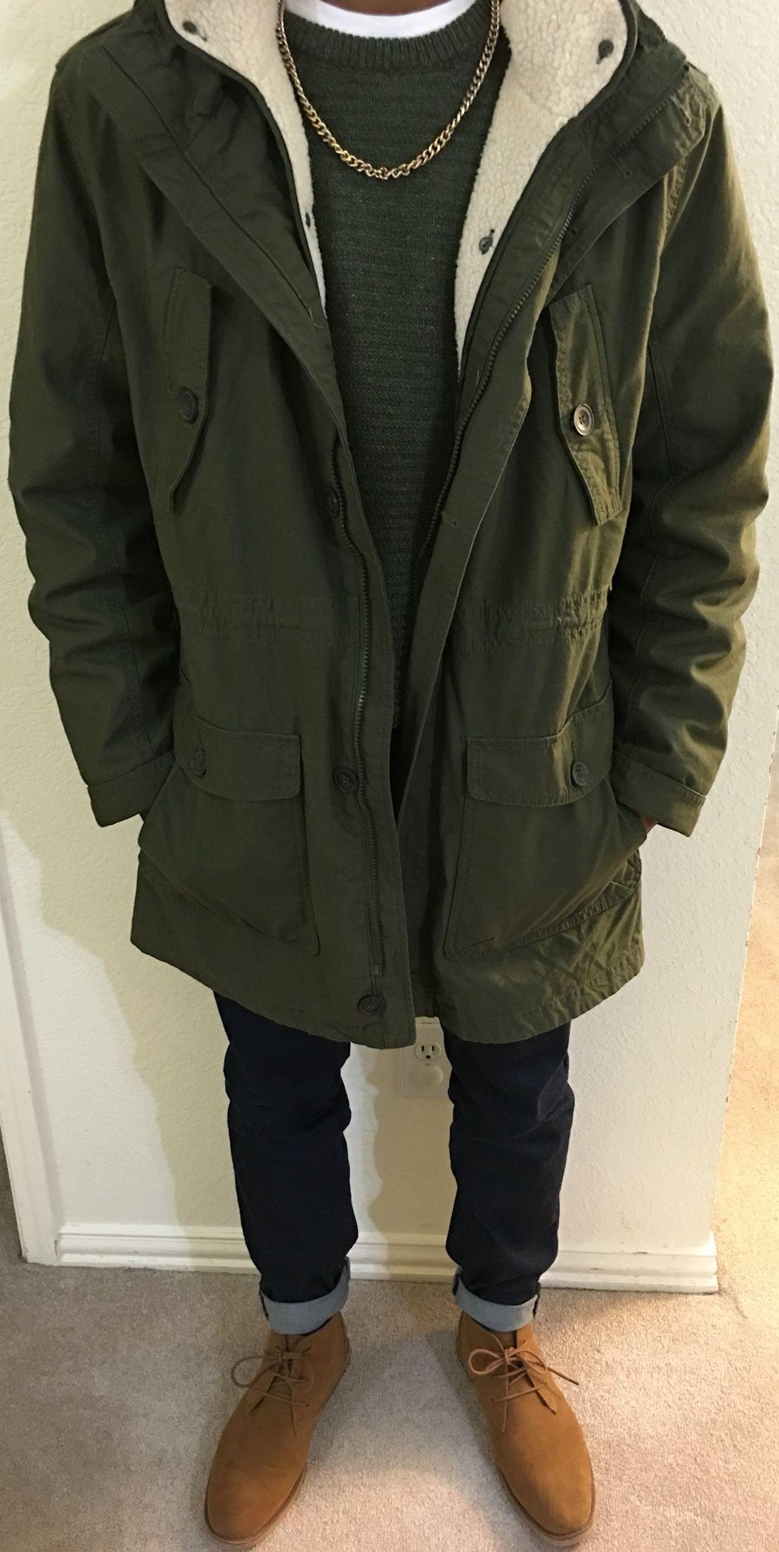 Dark Green Parka Jacket