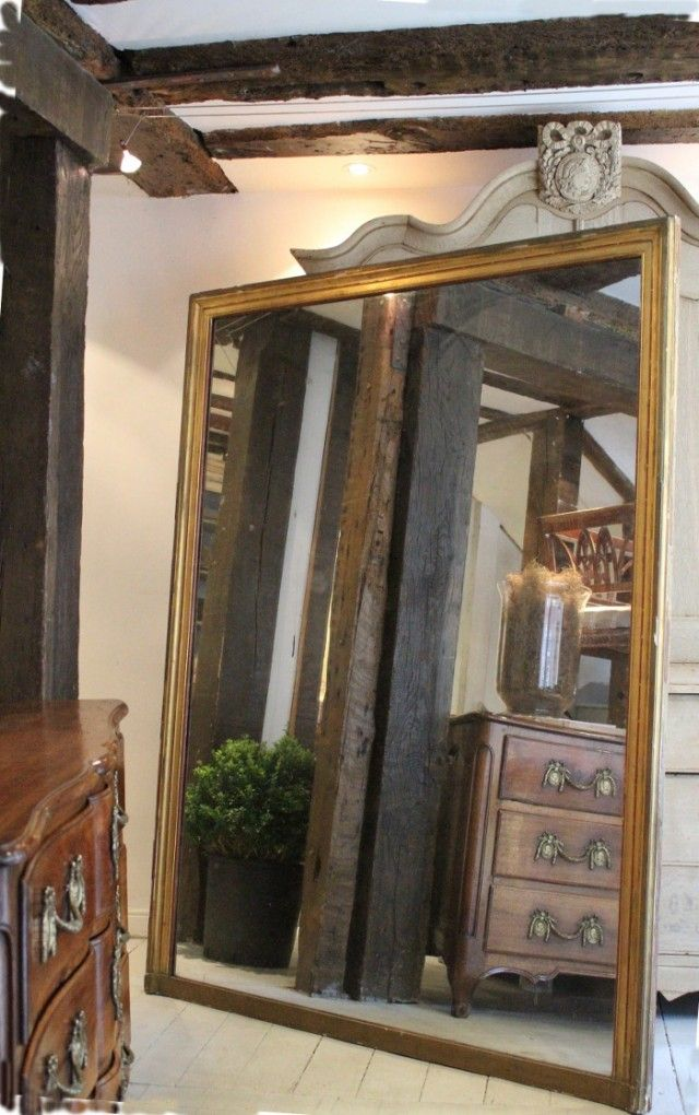 19c French gilt mirror with original plate http://www.lantiques.com/index.php/new-arrivals