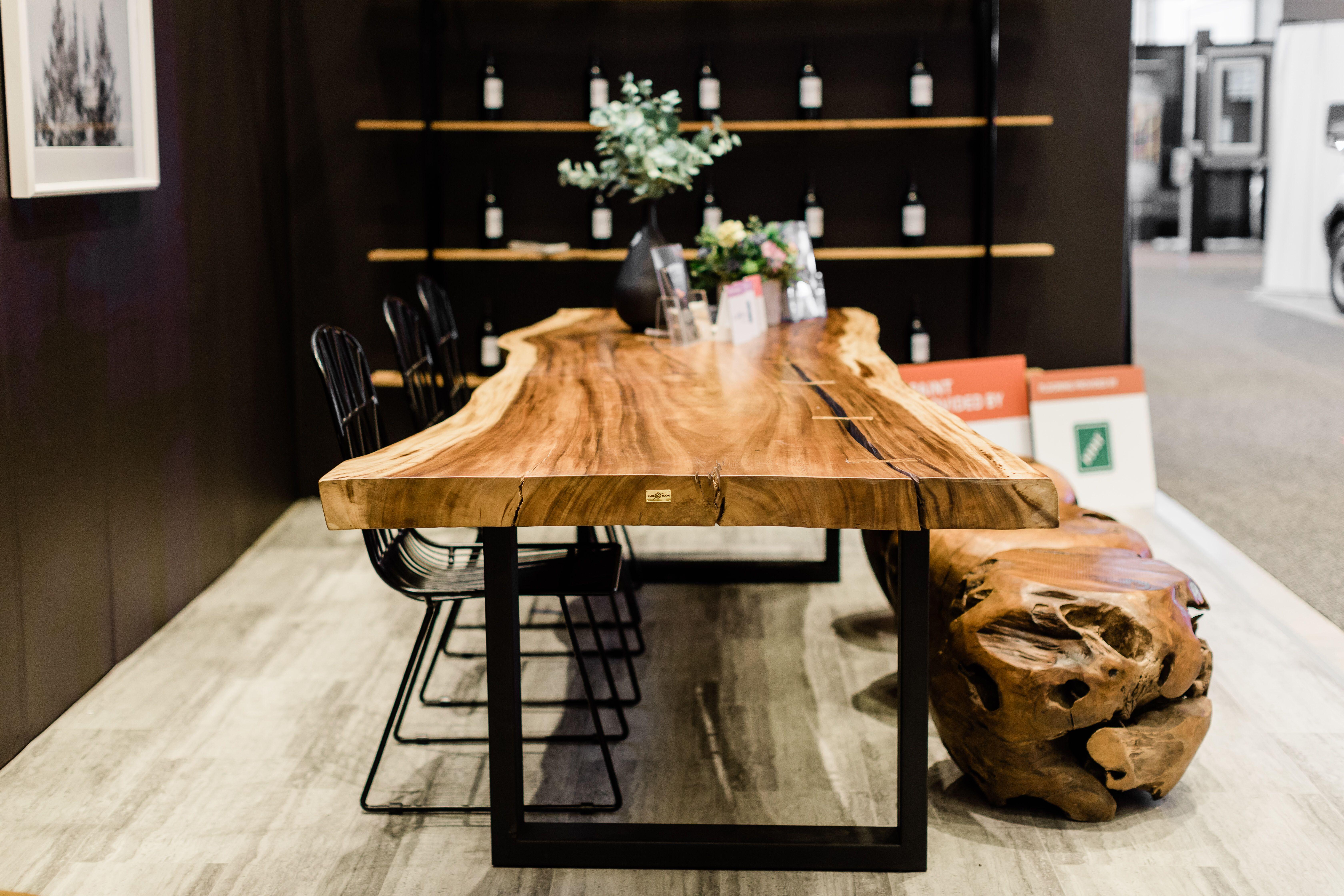Live Edge Dinning Table Live edge wood table, Furniture