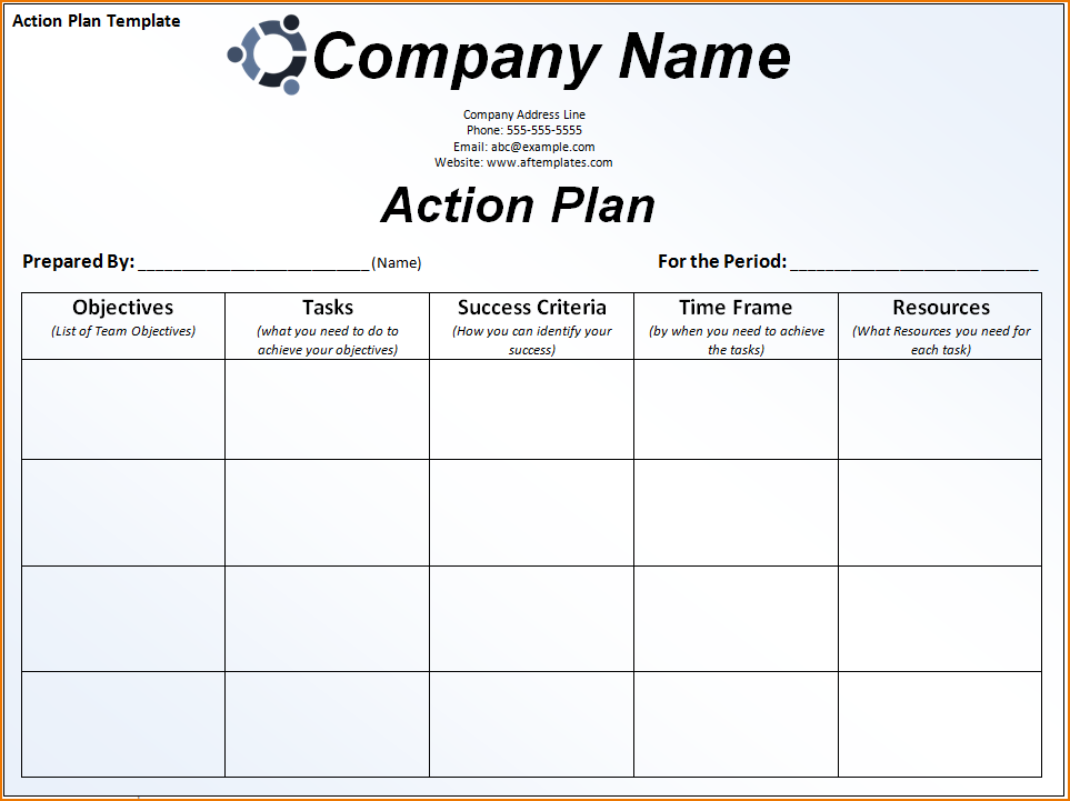 action plan to strengthen the team template - - yahoo image search