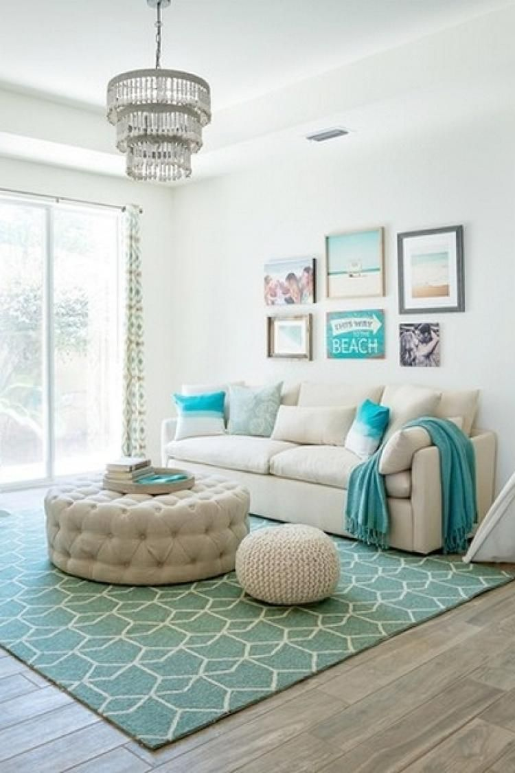 35 Awesome Living Room With Turquoise Accent Decorations Beach