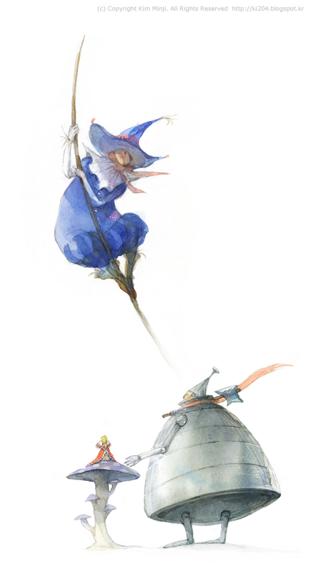 The Wizard of Oz characters / © Kim Minji - illustrator