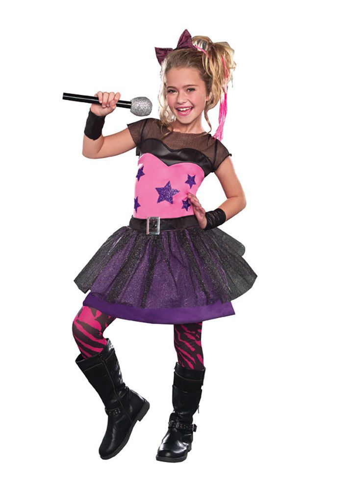 Halloween Rockstar.Details About Girls Rockstar Sweetie Costume By Dreamgirl 9568