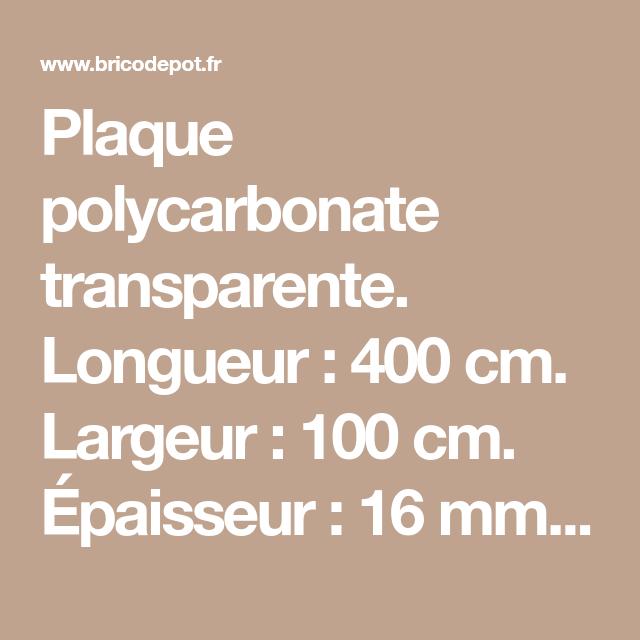 Plaque Polycarbonate Transparente Longueur 400 Cm Largeur 100 Cm Epaisseur 16 Mm Couverture Par Pack 4 Polycarbonate Isolation Thermique Isolation