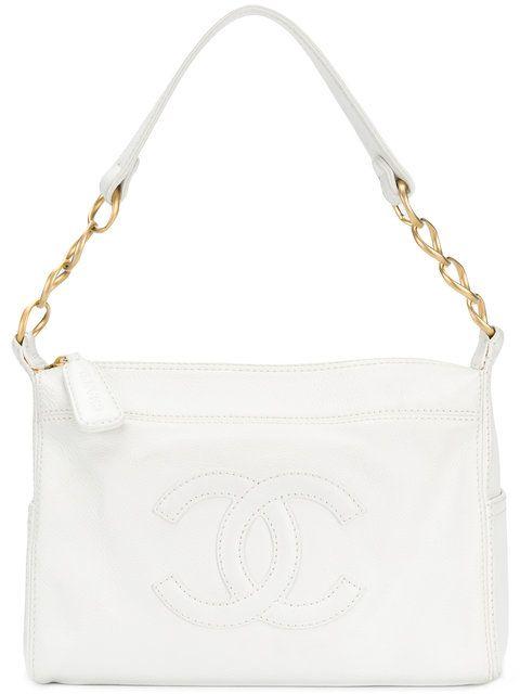 0b31ecf022a7 Chanel Vintage CC logo quilted shoulder bag