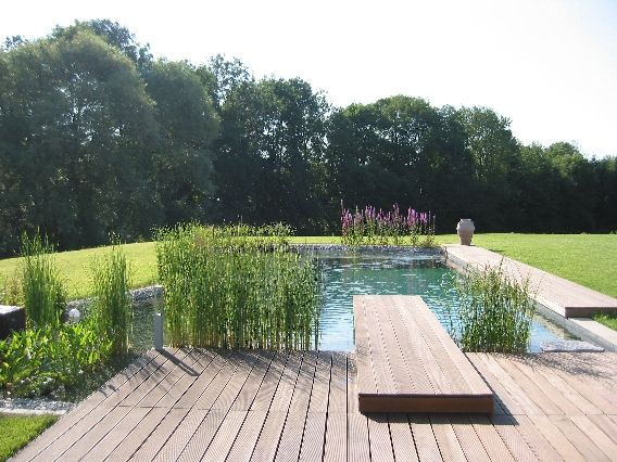 Pool Mit Steg Haus Garten Pinterest