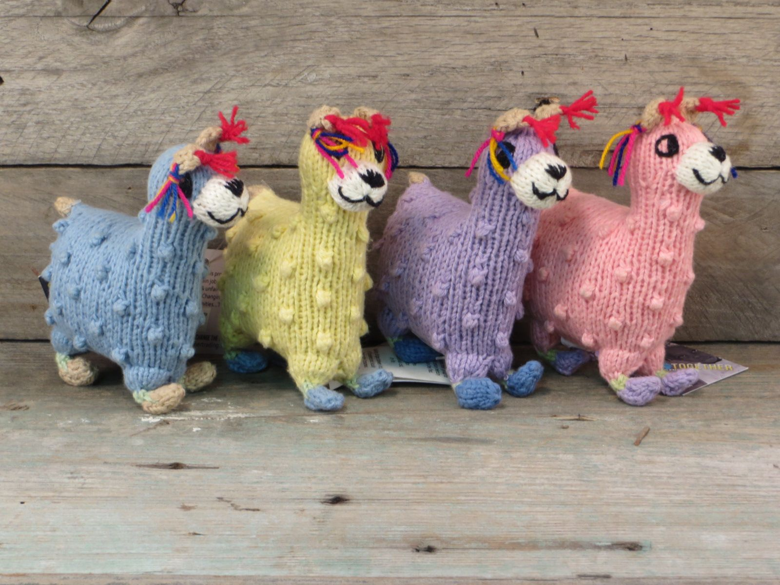 Hand Knitted Stuffed Baby Llama 11 00 Handmade With Love