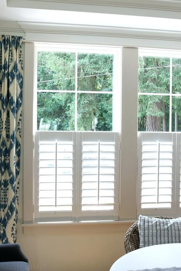 Curtains That Cover Bottom Half Of Window New Plantation Shutters The Inspired Room Design