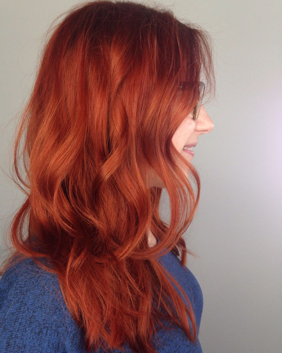 copper red hair. color specialist