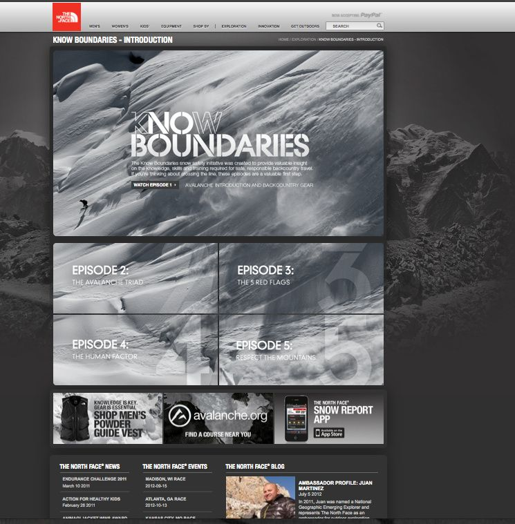 The North Face Beautiful Web Design Web Design Inspiration Web Graphic Design