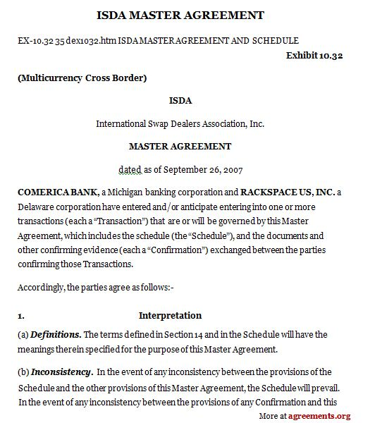 ISDA Master Agreement Buy Low, Sell High \/ Lowered Expectations - sample master service agreement