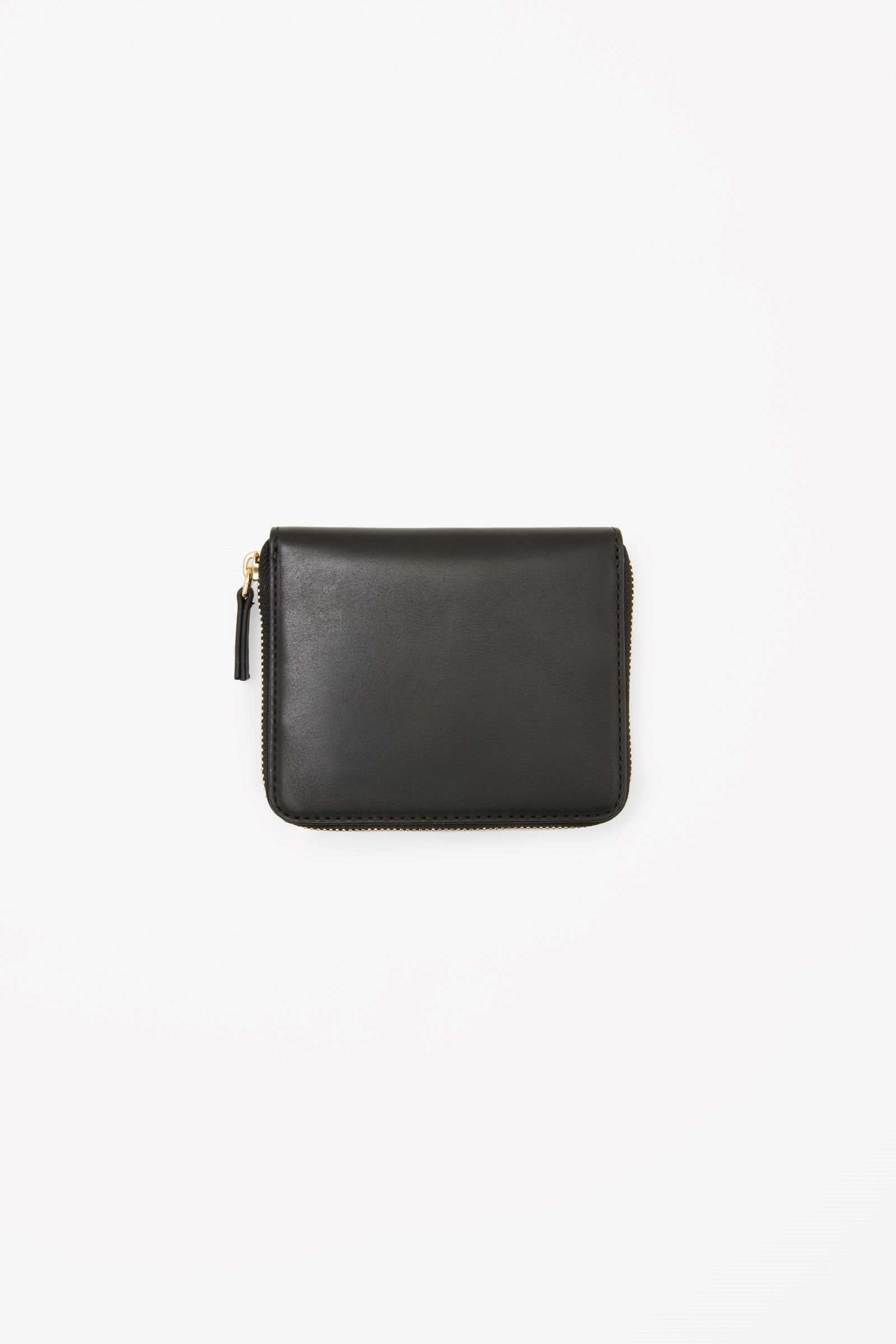 Black leather gloves sydney - Cos Image 2 Of Leather Zip Wallet In Black