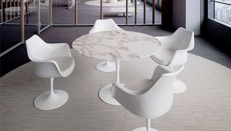 Saarinen Tavolo ~ Table tulipe eero saarinen style marbre 90 cm pas cher